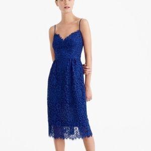 NWT J. Crew classic blue lace dress.  Size 4